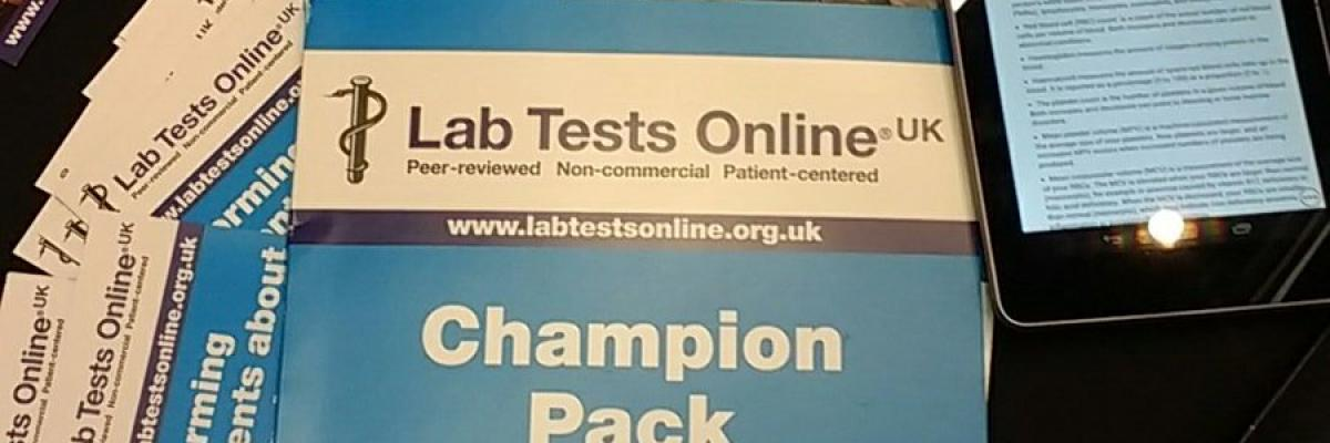 Lab Tests Online-UK Promotional Material
